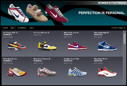 NikeID Choices