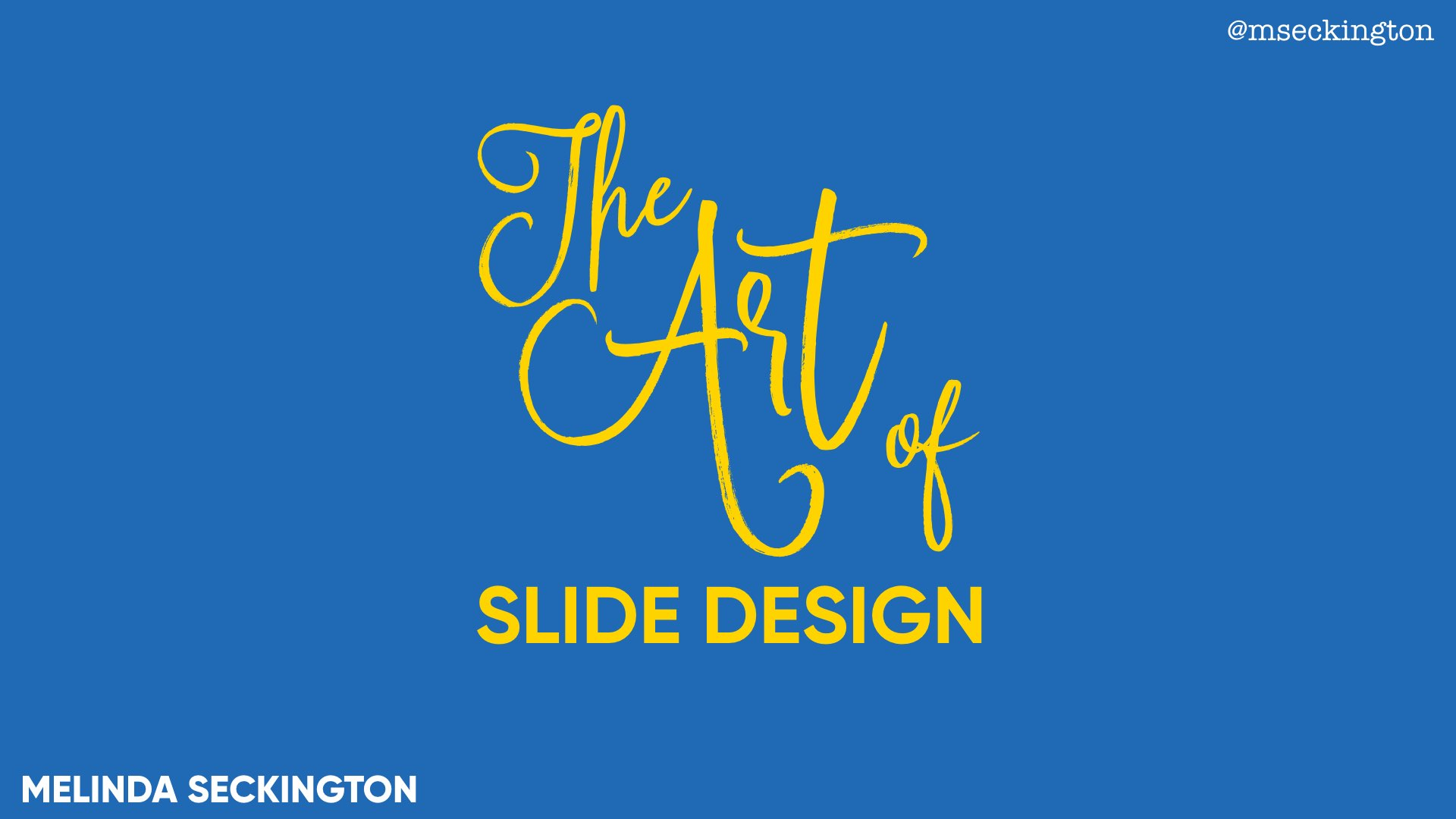 the art of slide design miss geeky
